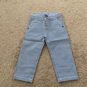 Jacadi Paris Bşue And White Casusl Pants Size:18M